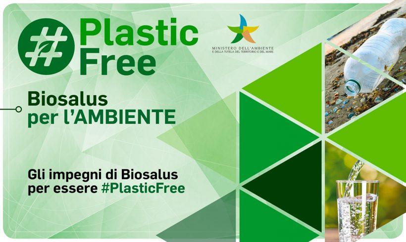DA NOVEMBRE BIOSALUS ITALIA È PLASTIC FREE