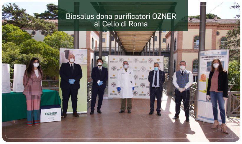 Biosalus dona purificatori d'aria OZNER al Policlinico Militare Celio di Roma