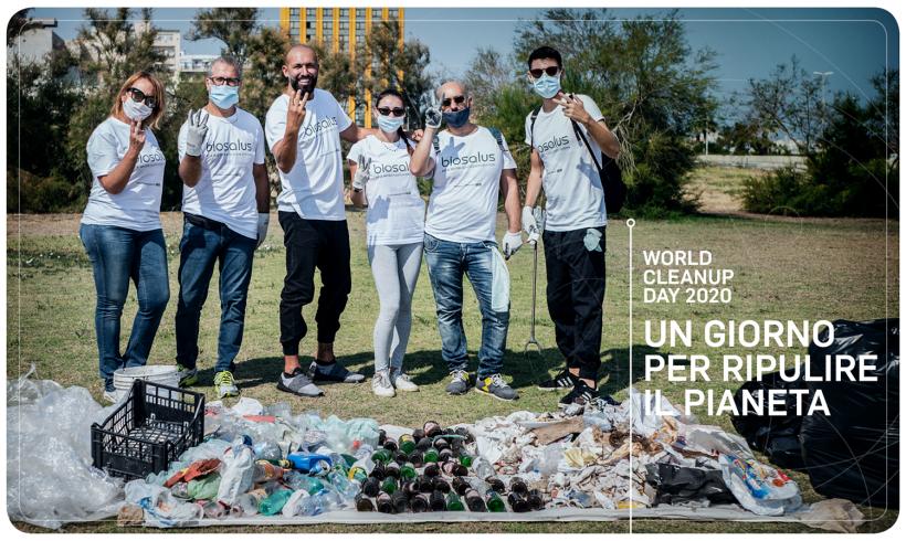 WORLD CLEANUP DAY, I DIPENDENTI BIOSALUS ITALIA AL LAVORO