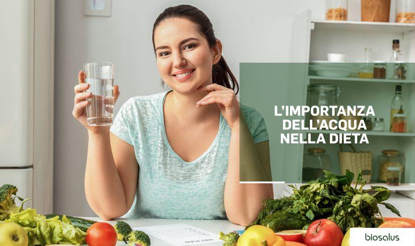 L'importanza dell'acqua nella dieta